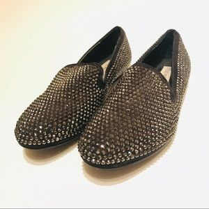 STEVE MADDEN Silver Spiked Studded Shoes Size 8